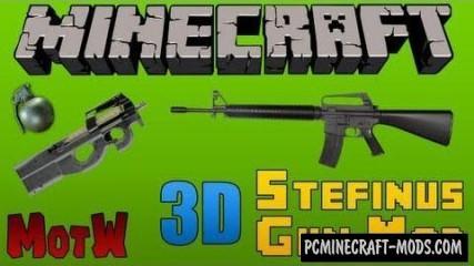 3D Gun Mod For Minecraft 1.7.10, 1.7.2, 1.5.2