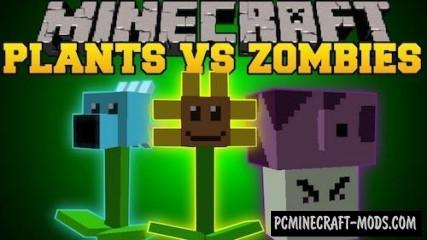 Plants vs Zombies Mod For Minecraft 1.7.10, 1.6.4