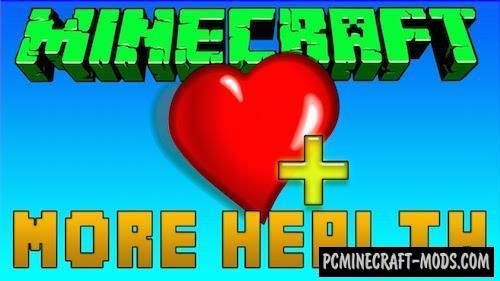 More Health Enhanced Mod For Minecraft 1.7.10, 1.7.2
