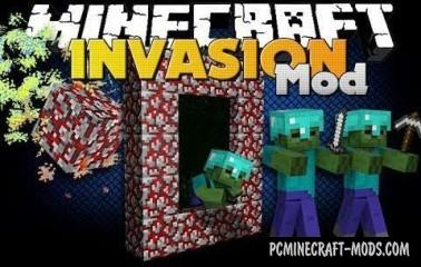Invasion Mod For Minecraft 1.7.10, 1.7.2, 1.6.4