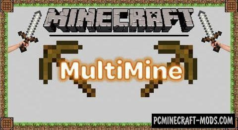 Multi Mine Mod For Minecraft 1.12.2, 1.11.2, 1.10.2, 1.7.10