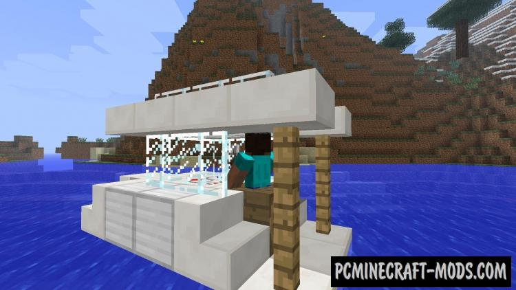 Archimedes' Ships Mod For Minecraft1.7.10, 1.7.2, 1.6.4, 1.5.2