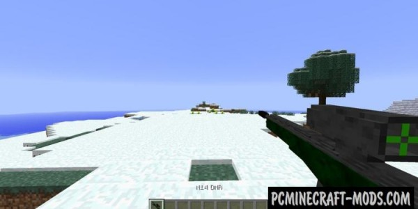 3D Gun Mod For Minecraft 1.7.10, 1.7.2, 1.5.2