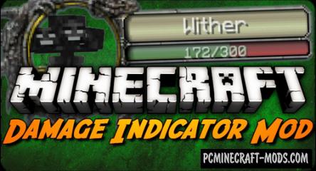 Damage Indicators Mod For Minecraft 1.12.2, 1.8, 1.7.10, 1.7.2