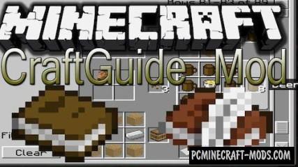 CraftGuide - GUI Mod For Minecraft 1.7.10, 1.7.2, 1.6.4, 1.5.2