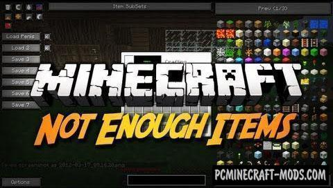 Not Enough Items (NEI) Mod For Minecraft 1.12.2, 1.11.2, 1.10.2, 1.7.10
