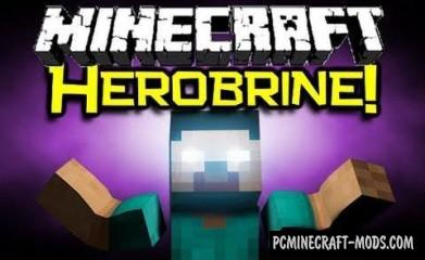 Herobrine Mod For Minecraft 1.7.10, 1.7.2, 1.6.4, 1.5.2