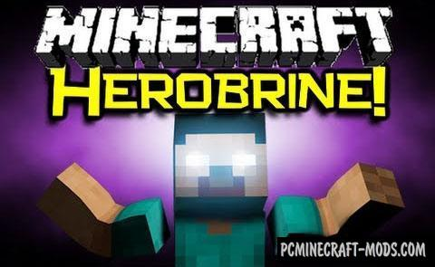 Herobrine - Adventure Mod For Minecraft 1.16.5, 1.7.10, 1.5.2