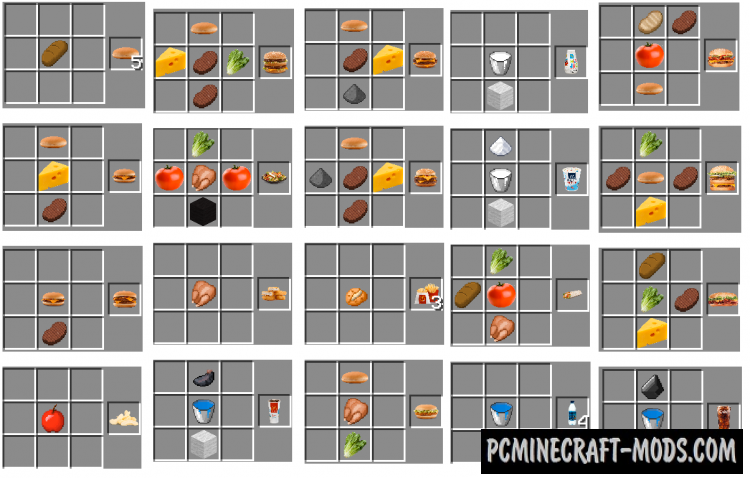 Minecraft food recipes recipe minecraft food recipes 36 fast food mod for minecraft 1710 pcminecraft mods forumfinder Gallery