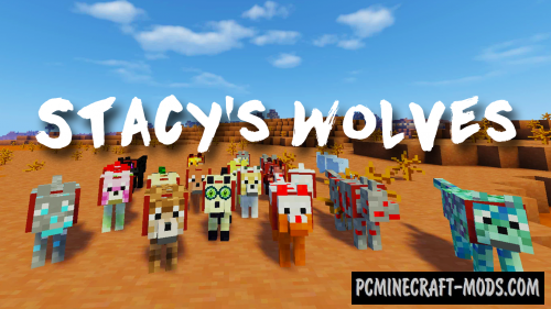 Stacy's Wolves - New Mobs Mod For Minecraft 1.7.10