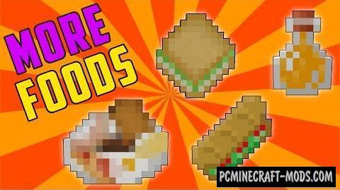 More Foods Mod For Minecraft 1.9.4, 1.9, 1.8.9