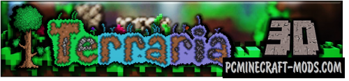 Terraria 3D - Weapons, Tools Mod For Minecraft 1.7.10