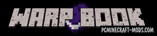 Warp Book Mod For Minecraft 1.12.2, 1.8.9, 1.7.10