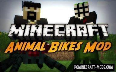 Animal Bikes Mod For Minecraft 1.9, 1.8.9, 1.8