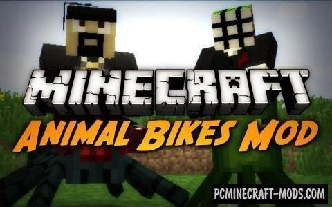 Animal Bikes Mod For Minecraft 1.12.2, 1.11.2, 1.10.2, 1.8.9
