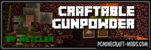 Craftable Gunpowder by Netglex Mod For Minecraft 1.8, 1.7.10