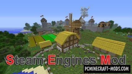 Steam Engines Mod For Minecraft 1.12.2, 1.11.2, 1.8.9, 1.7.10