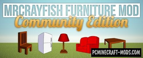 MrCrayfish's New Furniture Decor Mod For Minecraft 1.14.4
