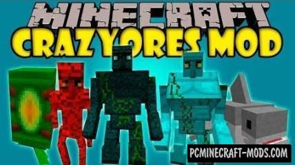 Crazy Ores - Blocks, Mobs Mod For Minecraft 1.7.10, 1.6.4