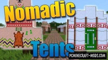 Nomadic Tents Mod For Minecraft 1.12.2, 1.11.2, 1.10.2, 1.7.10