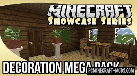 Decoration Mega Pack Mod For Minecraft 1.9, 1.8.9