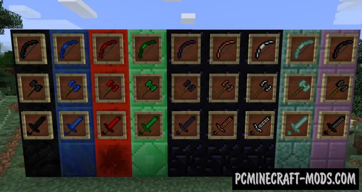 WeaponsPlus Mod For Minecraft 1.9.4, 1.9