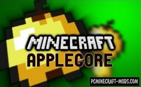 AppleCore Mod For Minecraft 1.10.2, 1.9.4, 1.8.9, 1.7.10