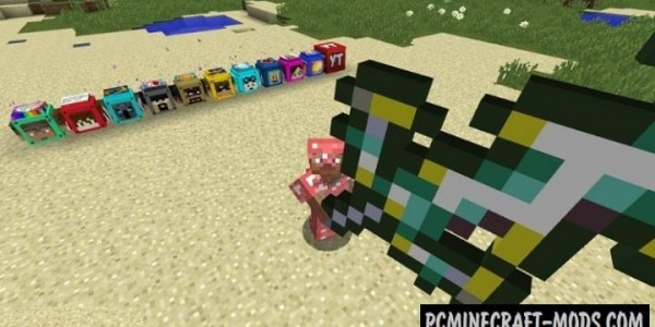 Youtuber's Lucky Blocks Mod For Minecraft 1.8.9