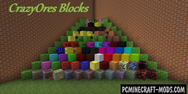 Crazy Ores - Blocks, Mobs Mod For Minecraft 1.7.10, 1.6.4