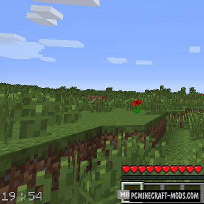Real Time Clock - GUI Mod For Minecraft 1.9.4, 1.8.9, 1.7.10