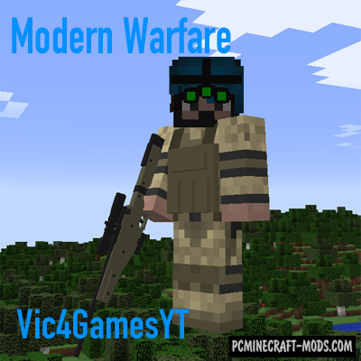 Vic's Modern Warfare Mod For Minecraft 1.12.2, 1.11.2, 1.10.2, 1.9.4