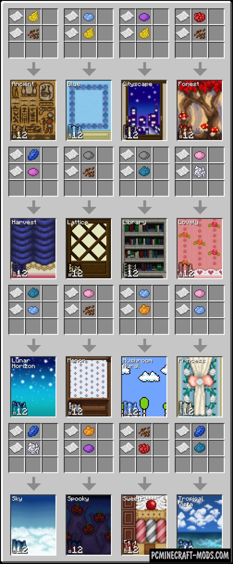 Wallpaper - Decor Mod For Minecraft 1.8.9, 1.7.10