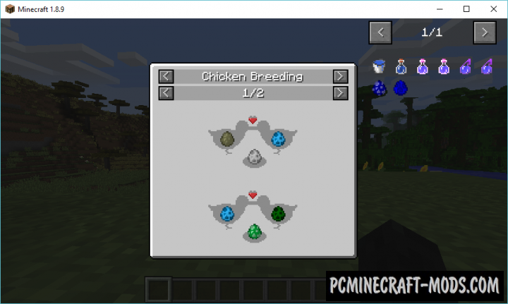 Chickens Mod For Minecraft 1.12.2, 1.11.2, 1.10.2, 1.9.4