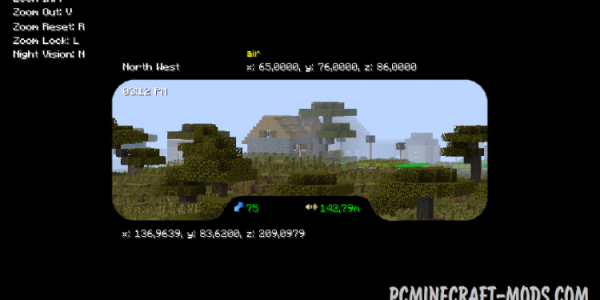 Binocular Mod For Minecraft 1.10.2, 1.9.4, 1.8.9, 1.7.10