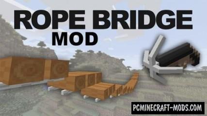 Rope Bridge - Gun Mod For Minecraft 1.16.5, 1.14.4