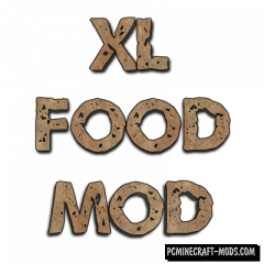 XL Food Pack - Food Mod For Minecraft 1.15.2, 1.14.4