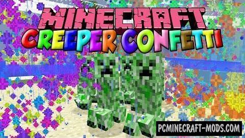 Creeper Confetti - Tweak Mod For Minecraft 1.16.5, 1.12.2