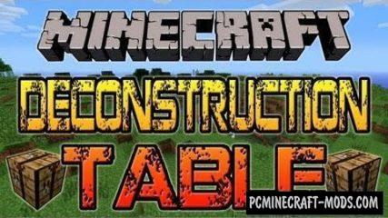 Deconstruction Table Mod For Minecraft 1.12.2, 1.8, 1.7.10