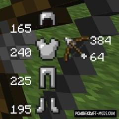 Durability Show Mod For Minecraft 1.11, 1.10.2, 1.8.9, 1.7.10