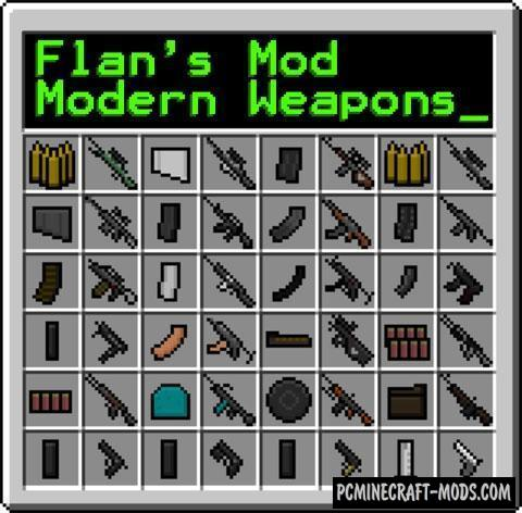 Flan's Modern Weapons Pack Mod For Minecraft 1.12.2, 1.8.9