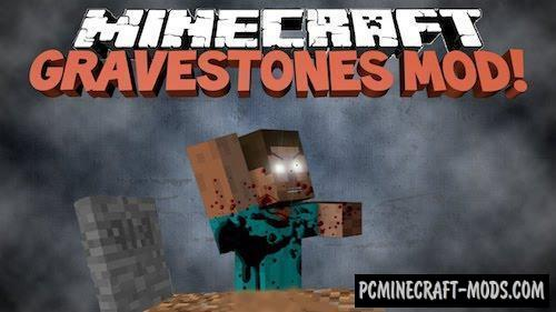 Gravestone Mod For Minecraft 1.12.2, 1.11.2, 1.10.2, 1.7.10