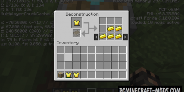 Deconstruction Table - Tool Mod For MC 1.12.2, 1.8.9, 1.7.10