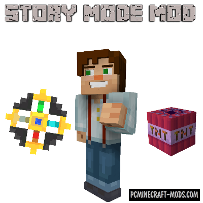 Minecraft Story Mode - New Mobs, Items Mod For MC 1.7.10