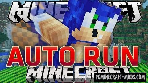 Auto Run Mod For Minecraft 1.8, 1.7.10