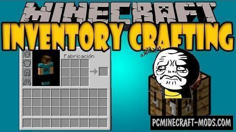 Inventory Crafting Grid - Tweak Mod For Minecraft 1.16.5, 1.12.2