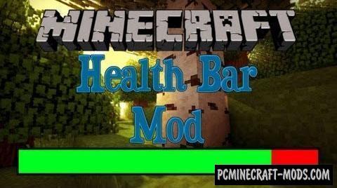 Health Bar - HUD Mod For Minecraft 1.12.2, 1.11.2, 1.7.10
