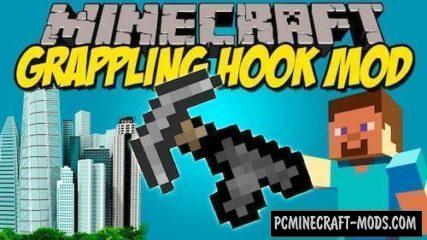 Grappling Hook Mod For Minecraft 1.12.2, 1.11.2, 1.10.2, 1.7.10