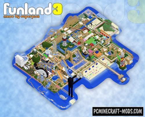 FunLand 3.2 - Racing Roller Coaster Map For MC