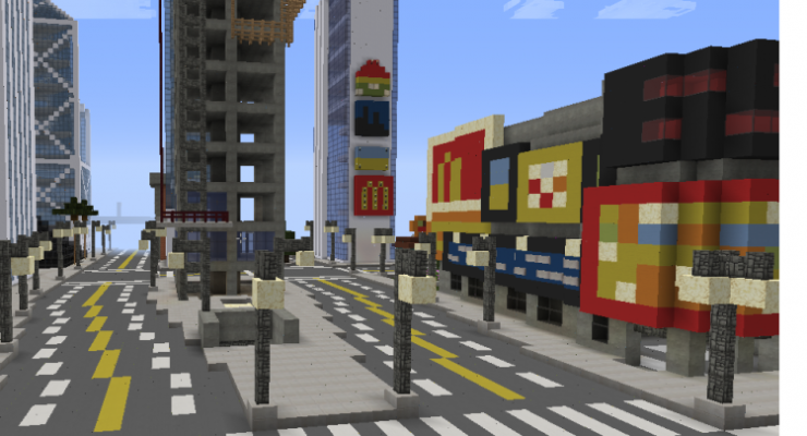 Modern City - Buildings Map For Minecraft