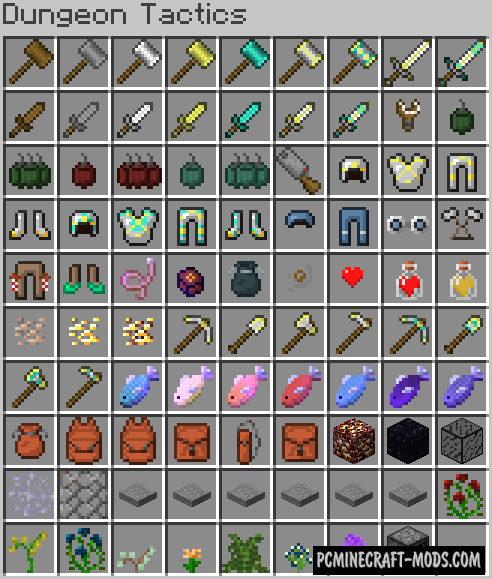 Dungeon Tactics Mod For Minecraft 1.12.2, 1.11.2, 1.10.2, 1.7.10